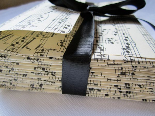 Musical Wedding Invitations Music Notes Invitation Red 233 Gatefold Front