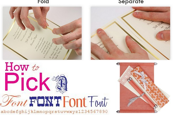 Wedding Invitations Colors and Font Styles