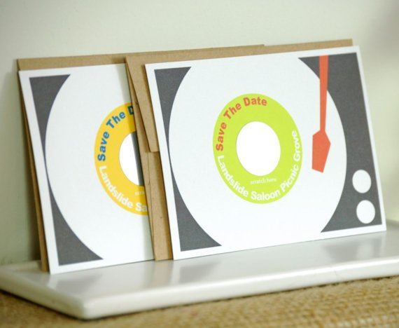 Paper Record Player Wedding Invitations - A2zWeddingCards