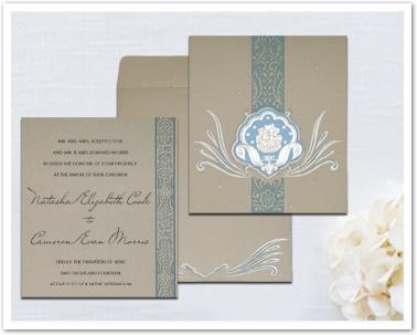 BLACK MATTE FOIL STAMPED WEDDING INVITATION : AW-2165