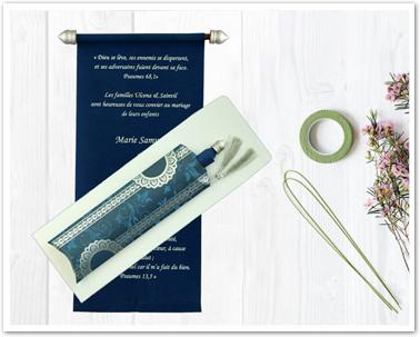 BLUE VELVET WEDDING CARD : ASC-5010A