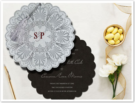 SHIMMERY FLORAL THEMED - EMBOSSED WEDDING CARD : AIN-8238A