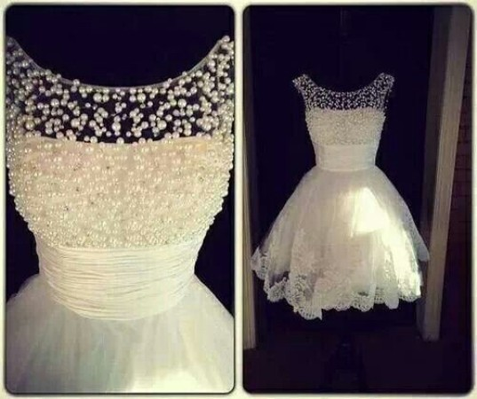 A2ZWeddingCards Short Wedding Dress