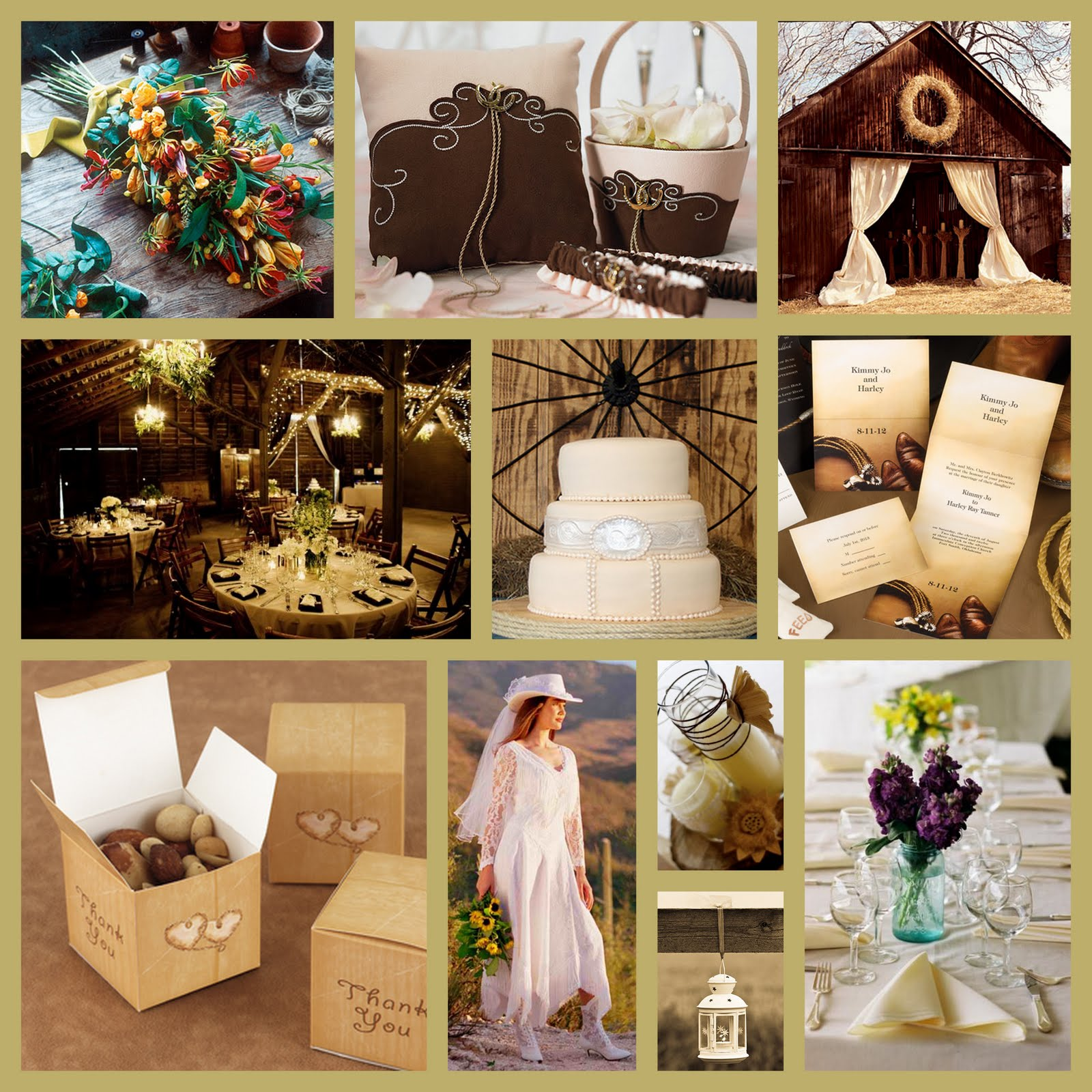 Cowboy Cowgirl Wedding Ideas: Rustic Wedding Theme Ideas