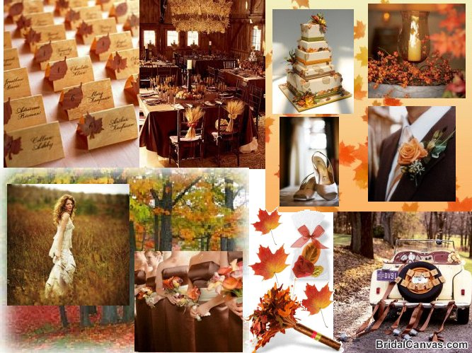Wedding Invitations Color In Autumn Season