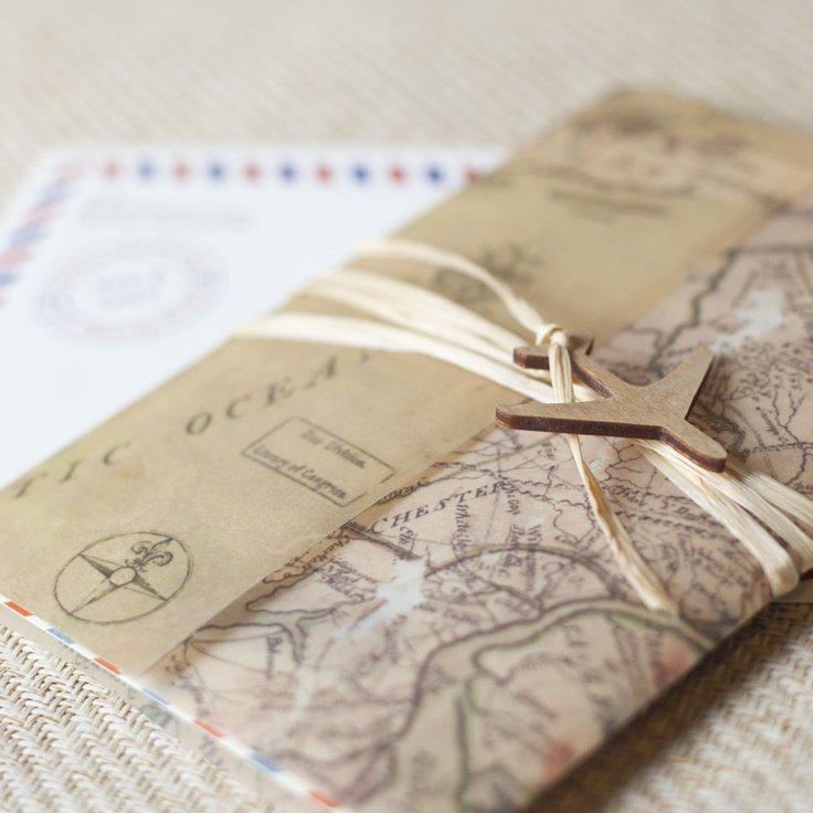 Travel Themed Wedding Cards