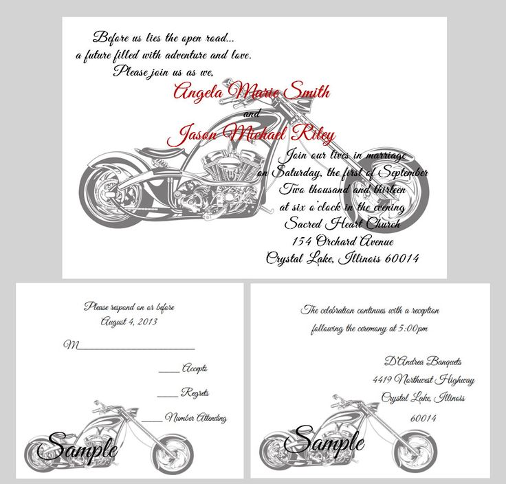 Motorcycle Wedding Invitations correctly perfect ideas for your invitation layout