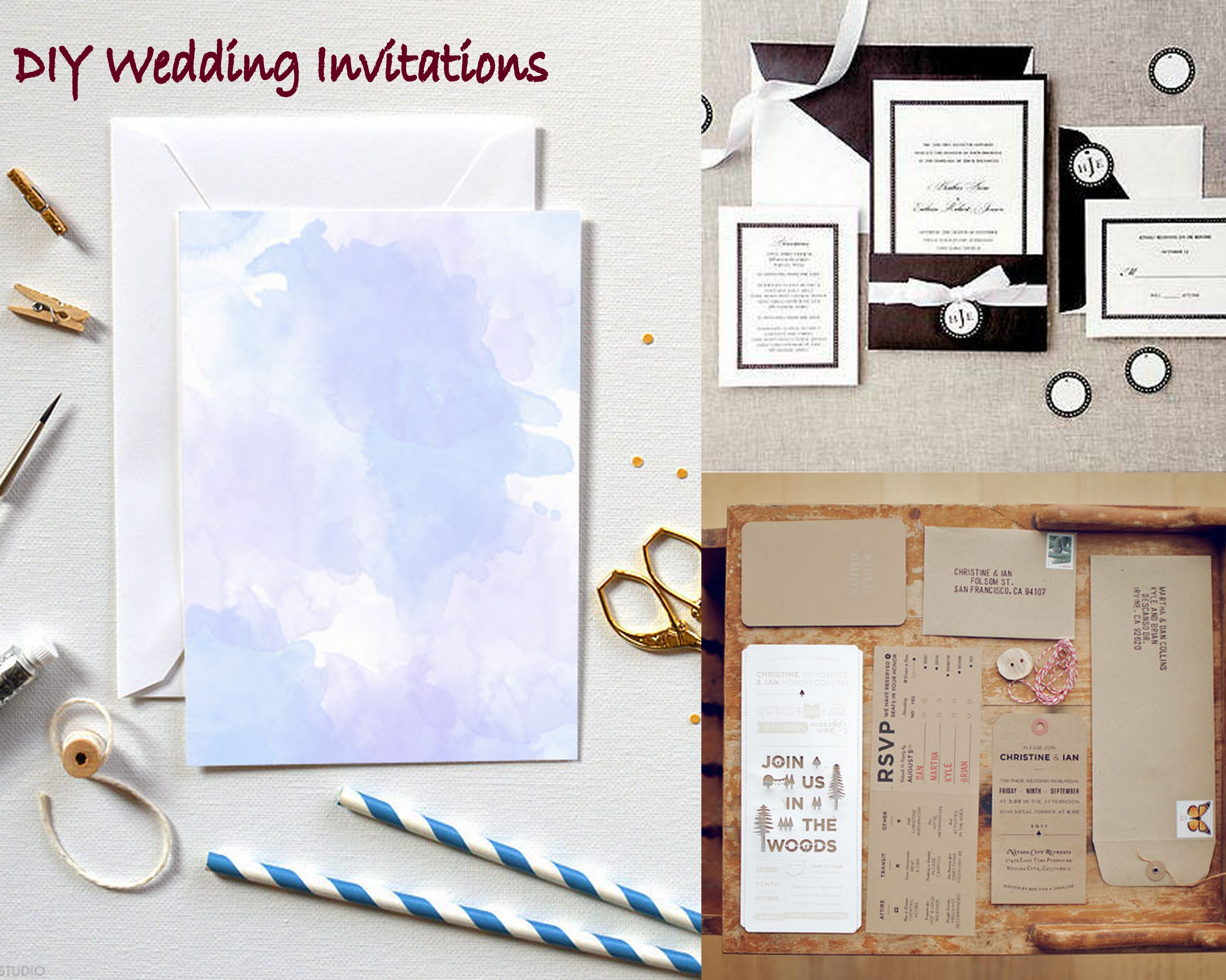 How to make use of diy wedding invitation kit