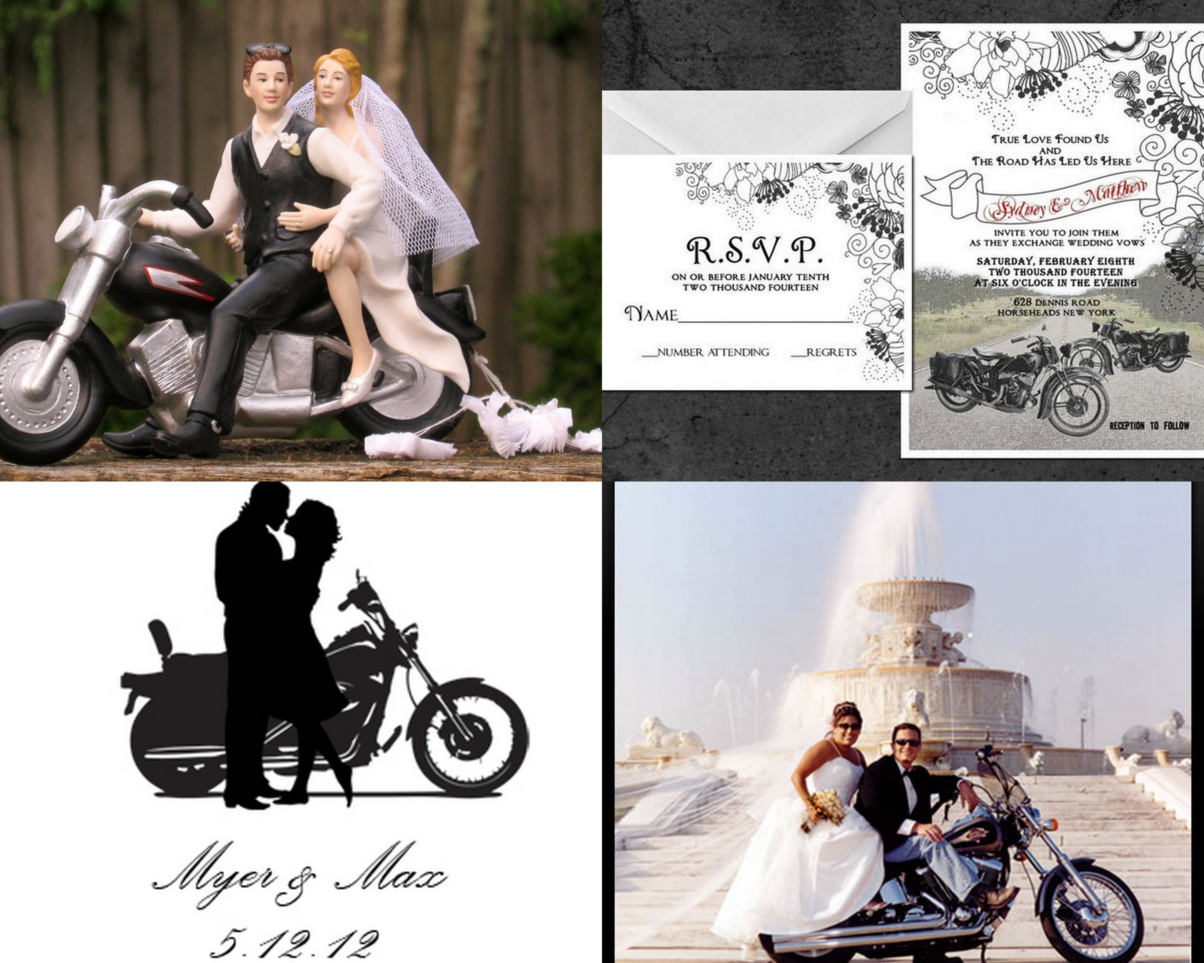 Audacious Motorcycle Wedding Invitations Can Change The Whole Scene