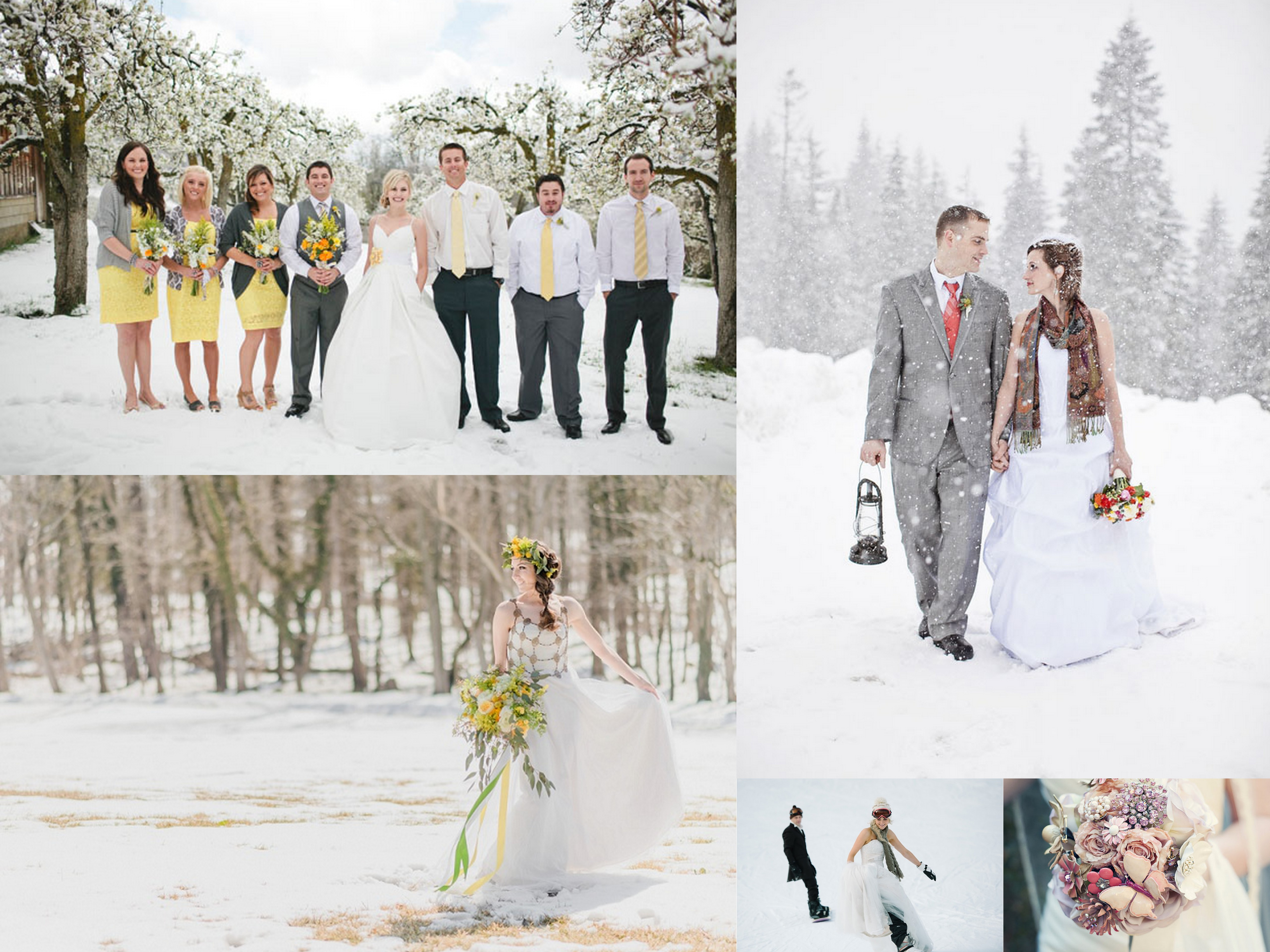 Citrus and snow weddings - A2zWeddingCards