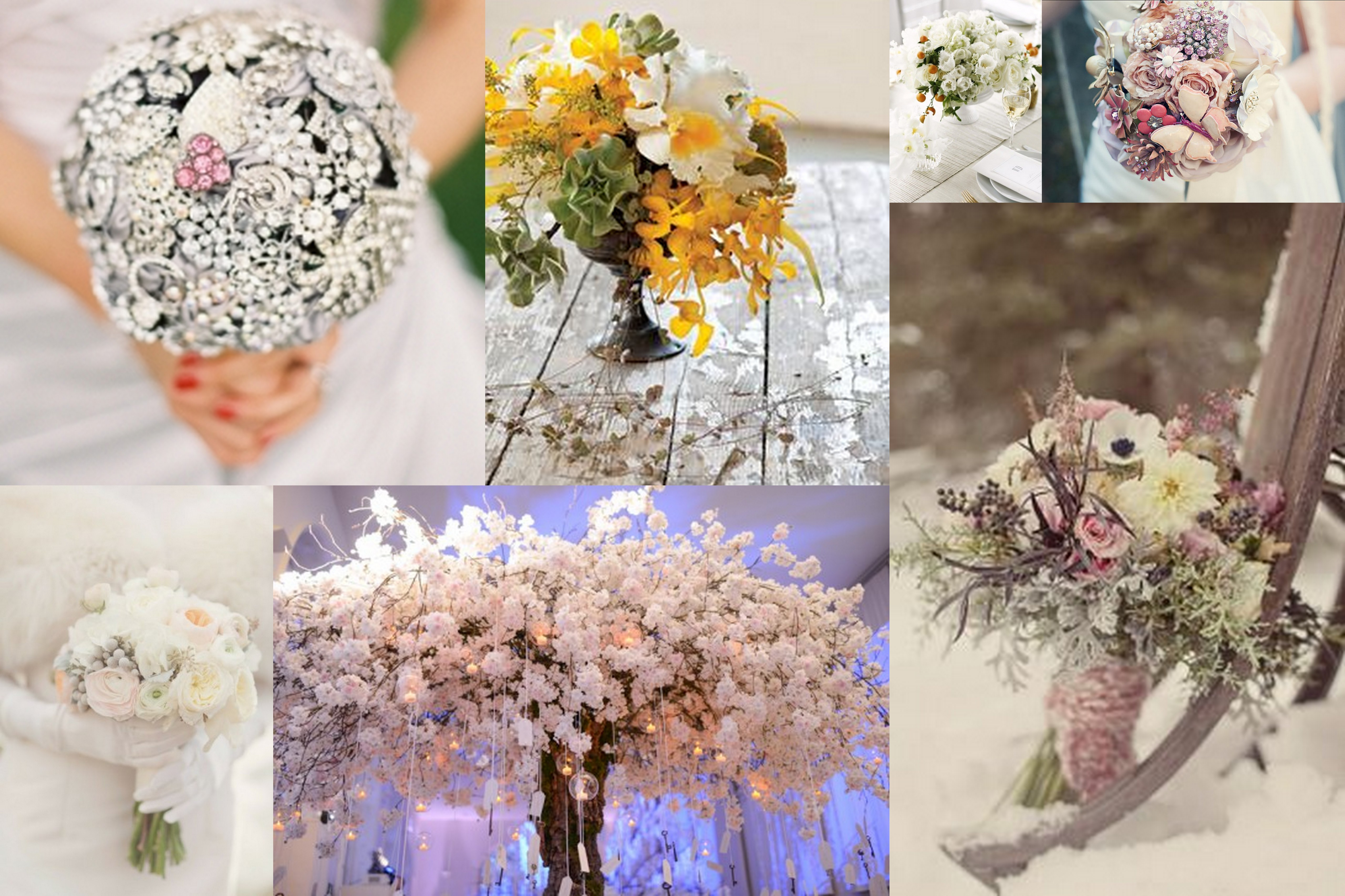 Citrus-Snow Wedding FLowers - A2zWeddingCards