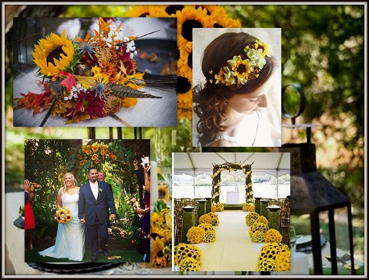 Sunflower decorating ideas elitflat sunflower wedding ideas gallery wedding dress junglespirit Image collections