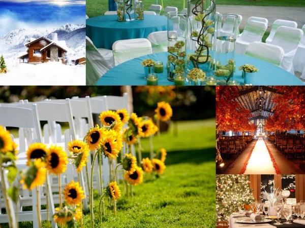 5 seasonal rustic wedding color schemes for 2016 junglespirit Choice Image