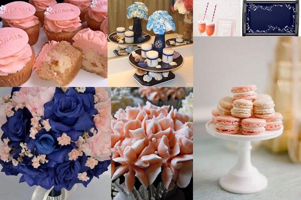 Navy And Peach Wedding Invitations: Modern Elegant Navy Blue And Peach Wedding Theme Ideas