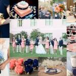 Navy Blue and Peach Wedding Theme - A2zWeddingCards