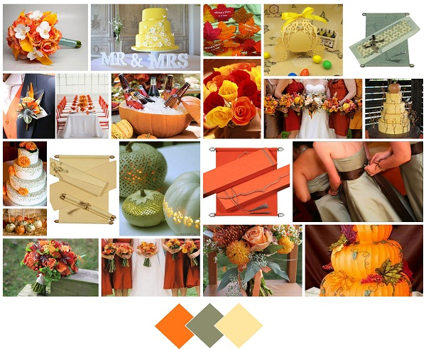 Pumpkin, butter, sage - A2zWeddingCards