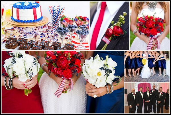 patriotic wedding theme a 4th of july wedding inspirations. Black Bedroom Furniture Sets. Home Design Ideas
