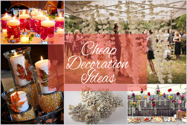 Cheap wedding decoration ideas for your big empty space junglespirit