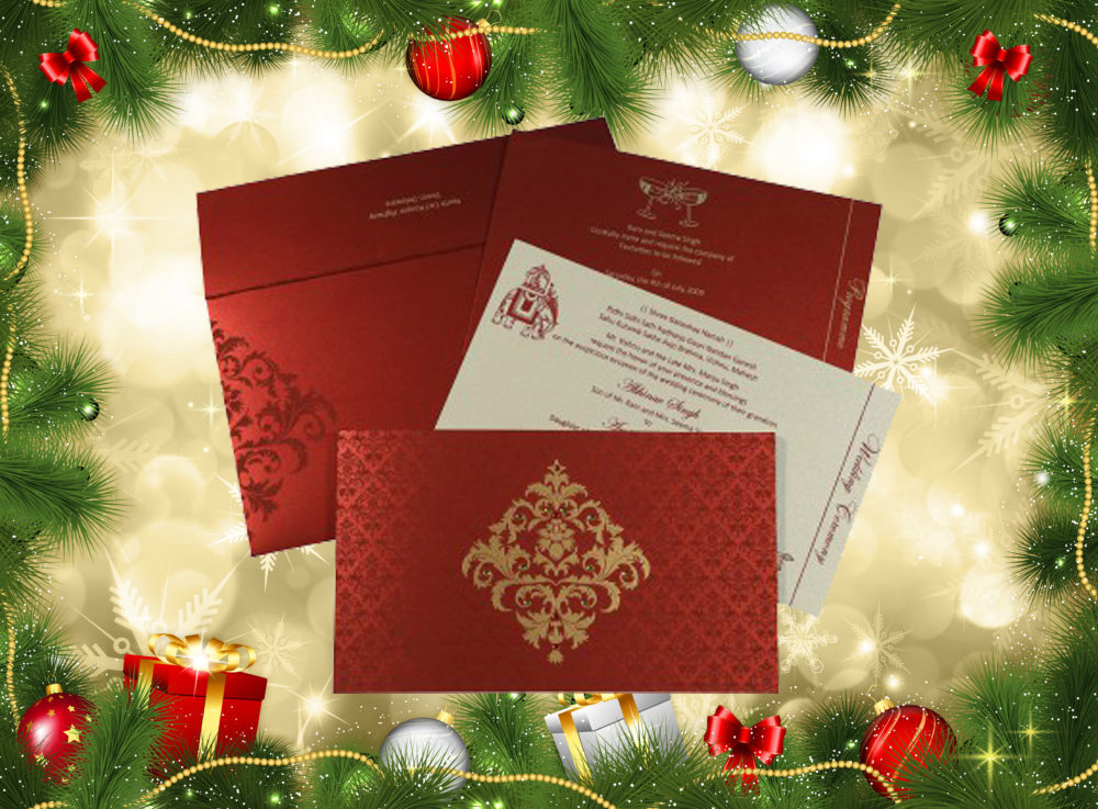 Christmas Wedding Invitation Ideas - A2zWeddingCards