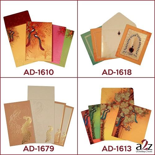 1. Peacock wedding invitations - A2zWedding Cards