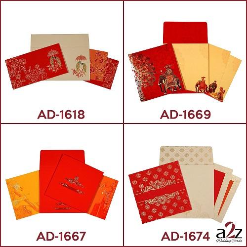 2. Red wedding invitations - A2zWeddingCards