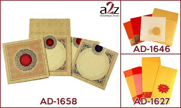 5. Multi-colour wedding invitations - A2zWeddingCards
