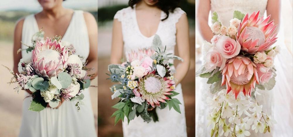 Distinctive King Protea Bridal Bouquet