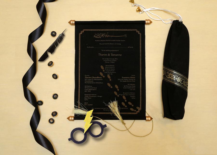Scroll Wedding Invitations - Harry Potter Themed Wedding