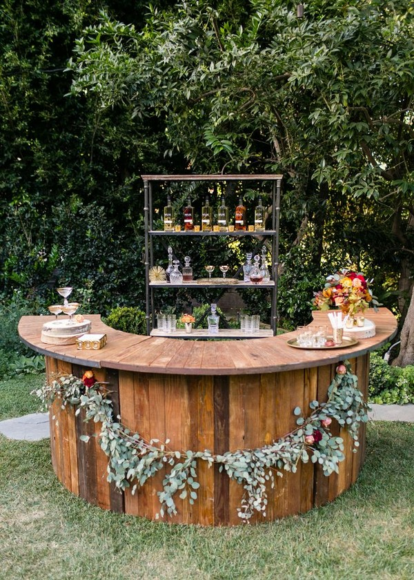 Bar Ideas For Rustic Backyard Weddings A2zWeddingCards