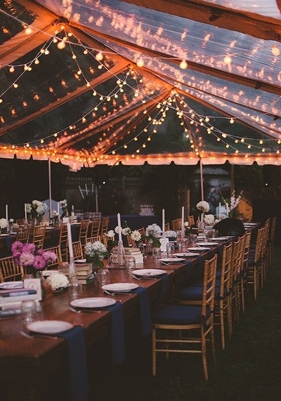 Crystal Clear tent for Outdoor Wedding - A2z Wedding Cards