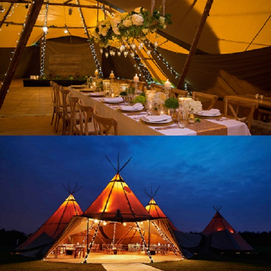 Teepee Wedding tent For Bohemian style Wedding - A2z wedding Cards & Reveal Your Wedding Theme By Customized Wedding Tent Decor Ideas !!