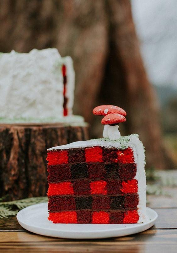 Gingham Wedding cake - A2zWeddingCards