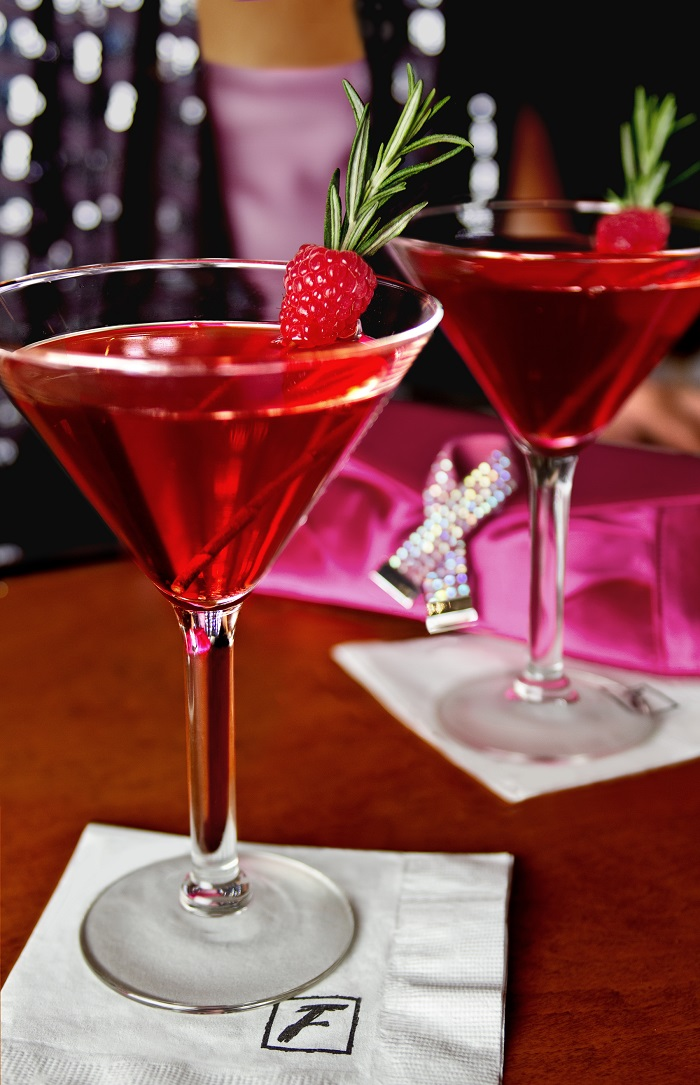 cosmopolitans with strawberries