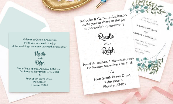 Under $1 Wedding Invitations-A2zWeddingCards