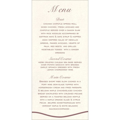 Menu Cards - MENU-1413