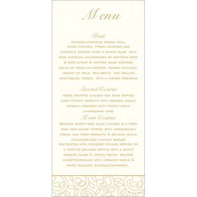 Menu Cards - MENU-1438