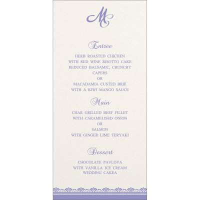 Menu Cards - MENU-8205F
