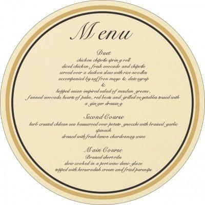 Menu Cards - MENU-8205K