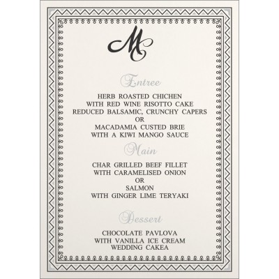 Menu Cards - MENU-8205L