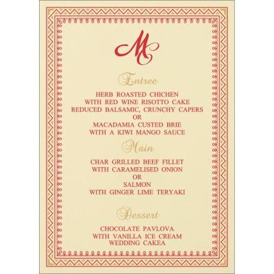 Menu Cards - MENU-8205R