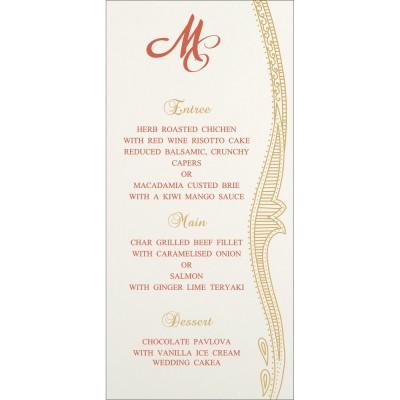 Menu Cards - MENU-8210F
