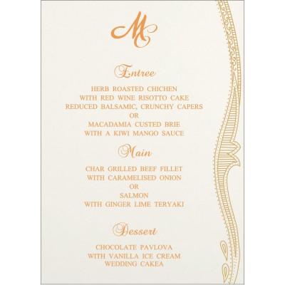 Menu Cards - MENU-8210L