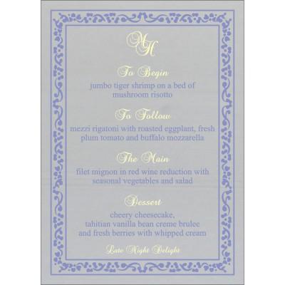 Menu Cards - MENU-8214O