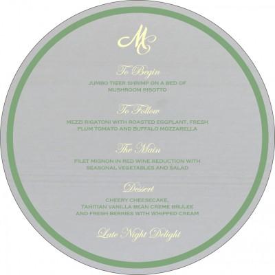 Menu Cards - MENU-8214P
