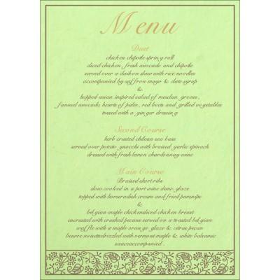 Menu Cards - MENU-8215D