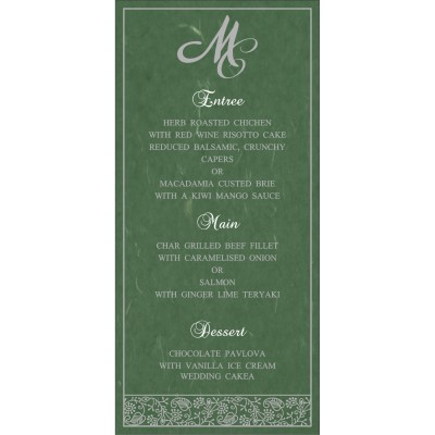 Menu Cards - MENU-8215E