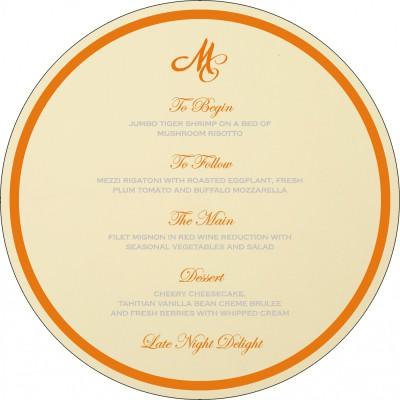 Menu Cards - MENU-8216O