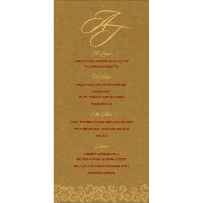 Menu Cards - MENU-8217C