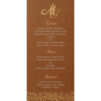 Menu Cards - MENU-8217I