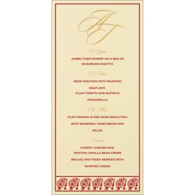 Menu Cards - MENU-8218B